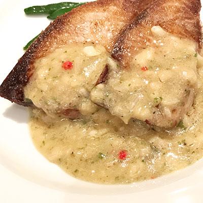 鮮魚のポワレ ゴボウのソース