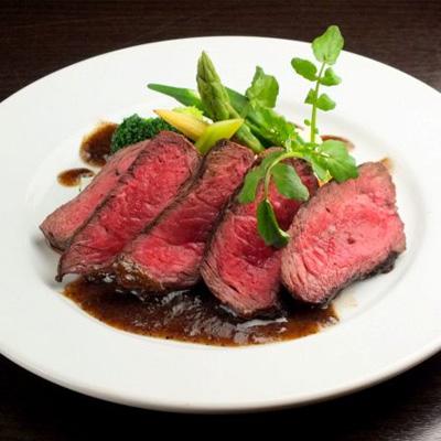 牛ランプ肉のステーキ