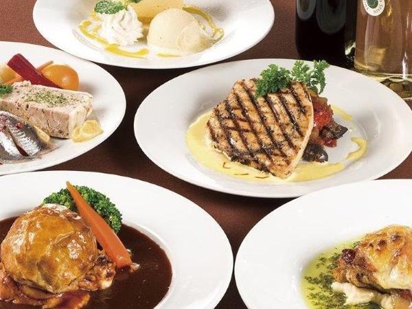 季節の美食満喫コース 10品<br>3.5時間飲み放題込 7,000円(税込)